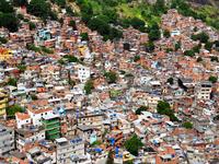 Inside Rocinha favela, Rio de Janeiro, Brazil, 2010. Source: Wikimedia commons; Copyright: chensiyuan; URL: https://upload.wikimedia.org/wikipedia/commons/7/7e/1_rocinha_favela_closeup.JPG; License: Licensed by JMIR.