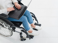 Source: Freepik; Copyright: freepik; URL: https://www.freepik.com/free-photo/elevated-view-woman-using-laptop-wheelchair_4417431.htm; License: Licensed by JMIR.