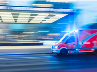 A time lapse of an ambulance driving with its lights on. Source: Camilo Jimenez / Unsplash; Copyright: Camilo Jimenez; URL: https://unsplash.com/photos/vGu08RYjO-s; License: Licensed by JMIR.