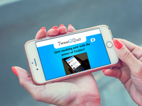 Tweet2Quit mobile website (montage). Source: The Authors / Pexels (Artem Beliaikin); Copyright: The Authors; URL: https://www.researchprotocols.org/2020/1/e16417; License: Licensed by JMIR.