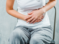 Source: freepik; Copyright: freepik; URL: https://www.freepik.com/free-photo/close-up-woman-sitting-chair-having-stomach-ache_3596830.htm; License: Licensed by JMIR.