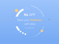 N1 App: Back your wellness with data. Source: Image created by the Authors; Copyright: Icahn School of Medicine at Mount Sinai; URL: https://www.researchprotocols.org/2020/1/e16362; License: Licensed by JMIR.