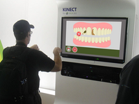 Simulation demonstrating user's interaction with the system via Microsoft Kinect (montage). Source: The Authors / WikiCommons; Copyright: JMIR Publications; URL: http://www.researchprotocols.org/2020/1/e10987/; License: Creative Commons Attribution (CC-BY).