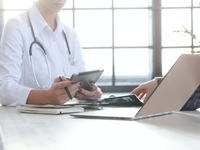 Source: freepik; Copyright: Racool_studio; URL: https://www.freepik.com/free-photo/female-doctor-working-medicine-specialist_8760343.htm#query=doctor%20computer&position=12; License: Licensed by the authors.