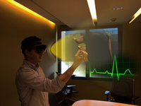 Biosensor integration during mixed reality episodes of medical learning provides opportunities for real time emotion detection leading to more effective medical training. Source: Image created by the Authors; Copyright: The Authors; URL: http://games.jmir.org/2020/3/e17823/; License: Creative Commons Attribution + Noncommercial + ShareAlike (CC-BY-NC-SA).