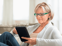 Source: iStock (Stock photo ID:529407857); Copyright: Tetmc; URL: https://www.istockphoto.com/photo/woman-using-tablet-computer-on-sofa-gm529407857-50956560; License: Licensed by the authors.