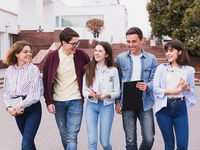 Source: Freepik; Copyright: Freepik; URL: https://www.freepik.com/free-photo/teenage-students-laughing-walking-with-books_4703212.htm#page=1&query=teenagers&position=4; License: Licensed by JMIR.