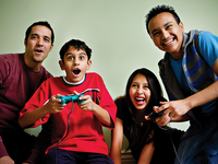 Families playing the Strengthening Families Program online game. Source: Image created by the Authors; Copyright: Jaynie Brown; URL: https://formative.jmir.org/2019/4/e14906; License: Creative Commons Attribution (CC-BY).