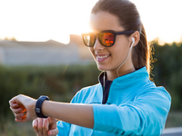 Source: Freepik; Copyright: nensuria; URL: https://www.freepik.com/free-photo/portrait-young-woman-using-they-smartwatch-after-running_1139967.htm; License: Licensed by JMIR.