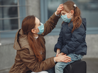 Source: freepik; Copyright: prostooleh; URL: https://www.freepik.com/free-photo/european-mother-respirator-with-her-daughter-are-standing-near-building-parent-is-teaching-her-child-how-wear-protective-mask-save-herself-from-virus_7282344.htm; License: Licensed by JMIR.