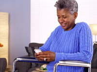 Source: Adobe Stock; Copyright: rocketclips; URL: https://stock.adobe.com/ca/images/mature-black-woman-laughing-and-texting/72390726?asset_id=72390726; License: Licensed by JMIR.