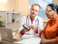 Patient-provider communication during a medical encounter. Source: iStock by Getty Images; Copyright: Sasha_Suzi; URL: https://www.istockphoto.com/ca/photo/medical-consultation-gm646346710-117325259; License: Licensed by the authors.