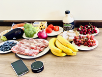 A picture with Food and Amazon Echo, smart devices. Source: Image created by the Authors; Copyright: The Authors; URL: http://www.jmir.org/2020/9/e19897/; License: Creative Commons Attribution (CC-BY).