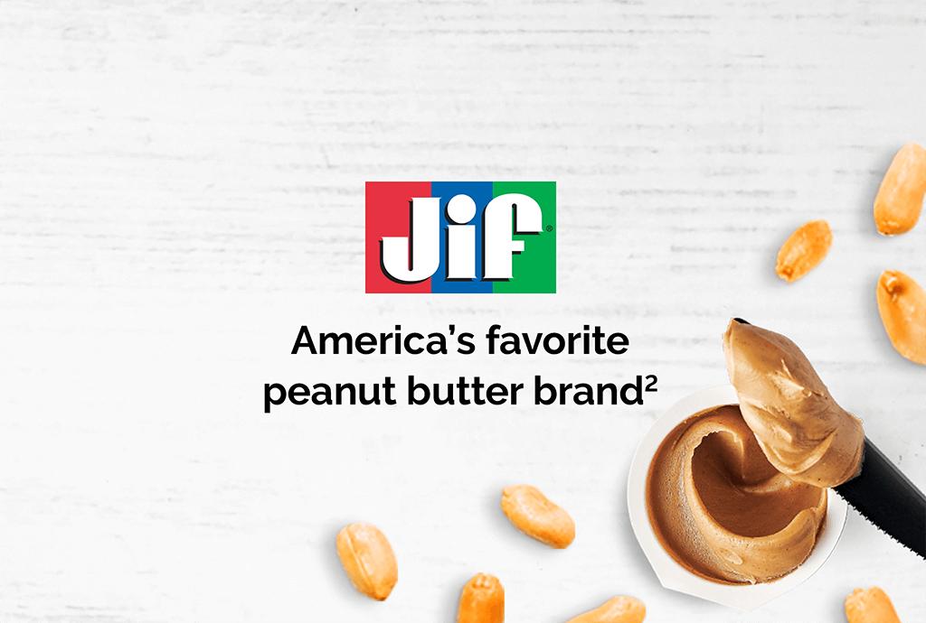 Jif: America's favorite peanut butter brand.