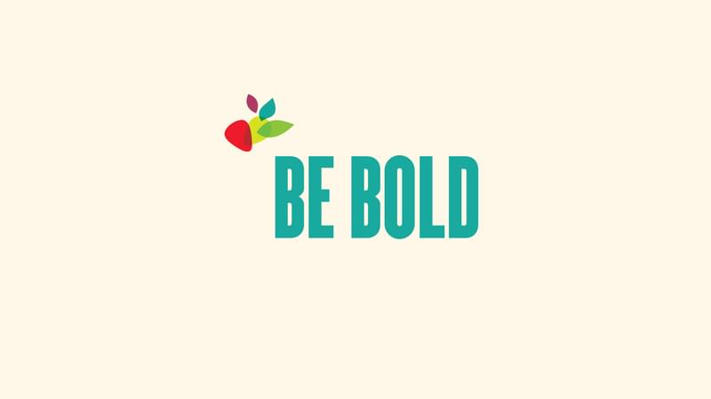 Be Bold with company logo