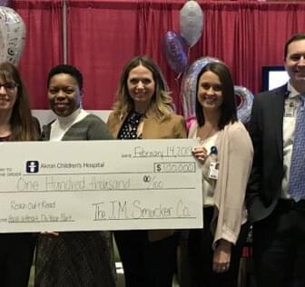 Akron Childrens Hospital Check Donation