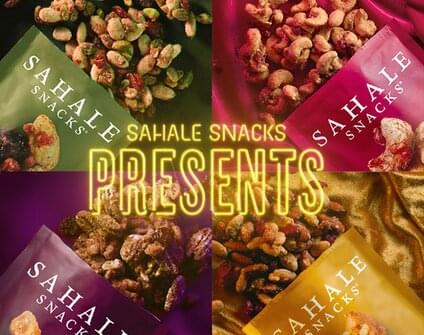 Four packages of open snack mixes