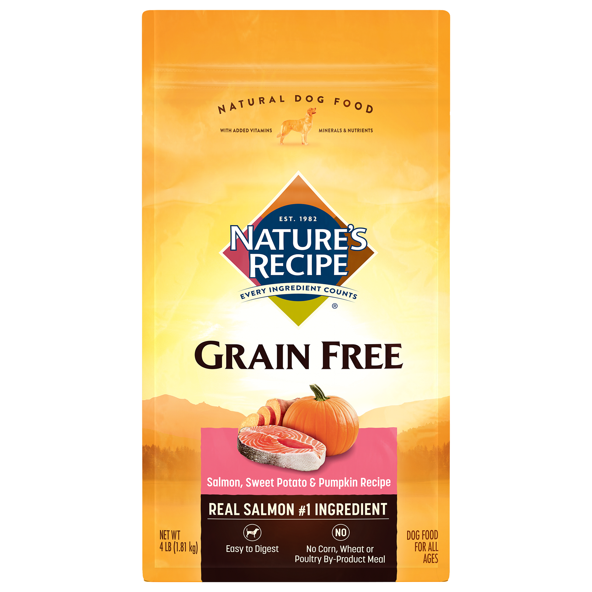 Grain Free Easy to Digest Salmon, Sweet Potato, & Pumpkin Recipe