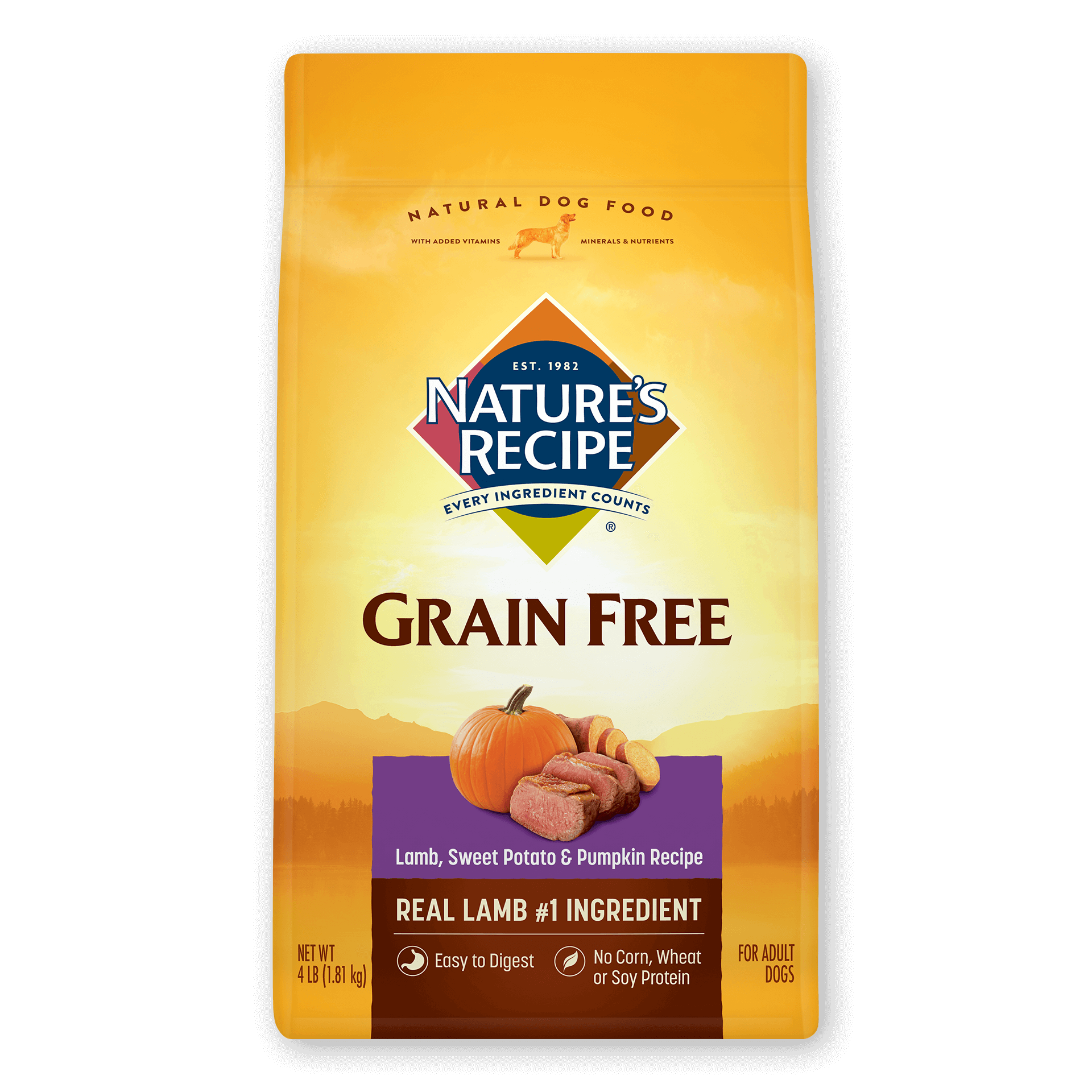 <p>Grain Free Easy to Digest Lamb, Sweet Potato, &amp; Pumpkin Recipe</p>