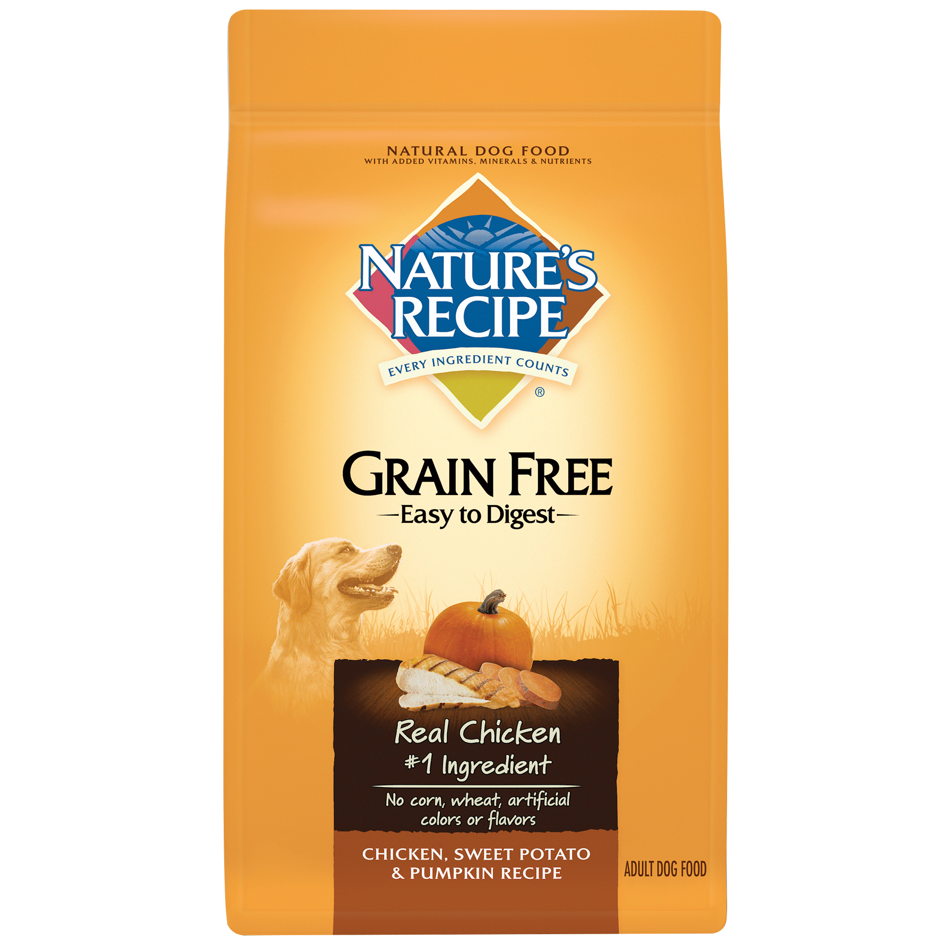 Grain Free Easy to Digest Chicken, Sweet Potato, & Pumpkin Recipe
