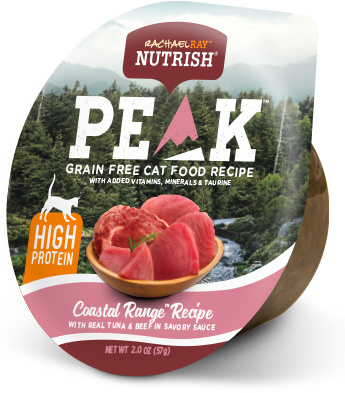 <p>PEAK Coastal Range™ Recipe With Real Tuna &amp; Beef in Savory Sauce</p> bag
