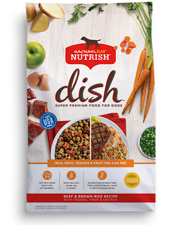 Nutrish DISH® Beef & Brown Rice Recipe With Veggies, Fruit & Chicken bag