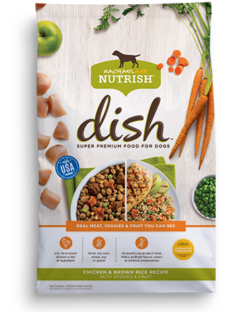 Nutrish DISH® Chicken & Brown Rice Recipe With Veggies & Fruit bag