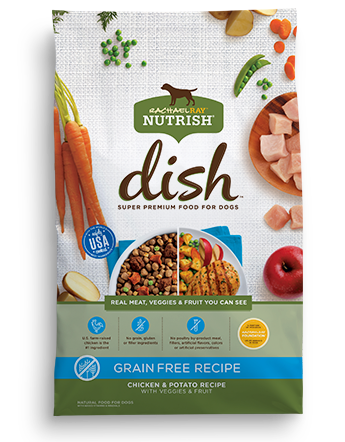 Nutrish DISH® Grain Free Chicken & Potato Recipe With Veggies & Fruit bag