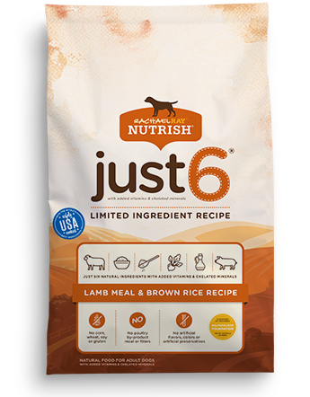 Just 6® Lamb Meal & Brown Rice Recipe bag