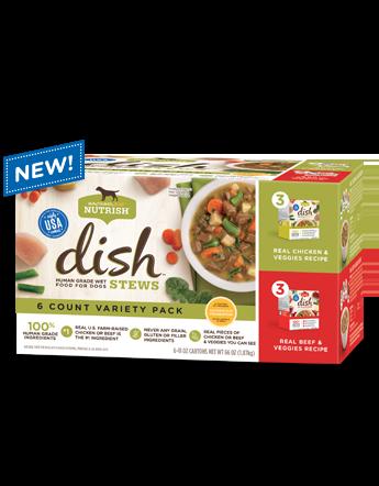 Nutrish DISH® Stews Variety Pack bag