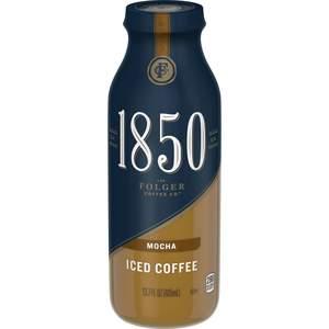Folgers 1850 mocha iced coffee. 13.7 fl oz