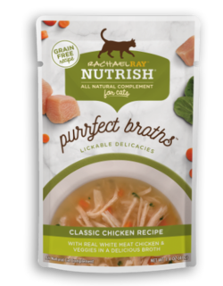<p>with Real White Meat Chicken &amp; Veggies in a Delicious Broth</p>