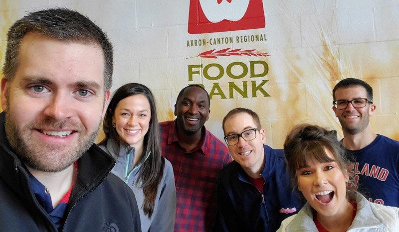 Food bank group shot of people