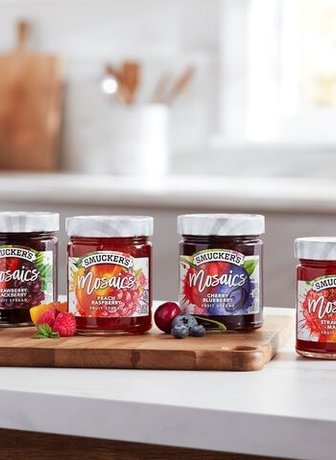 Jelly product on counter