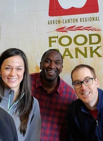 Group shot at food bank