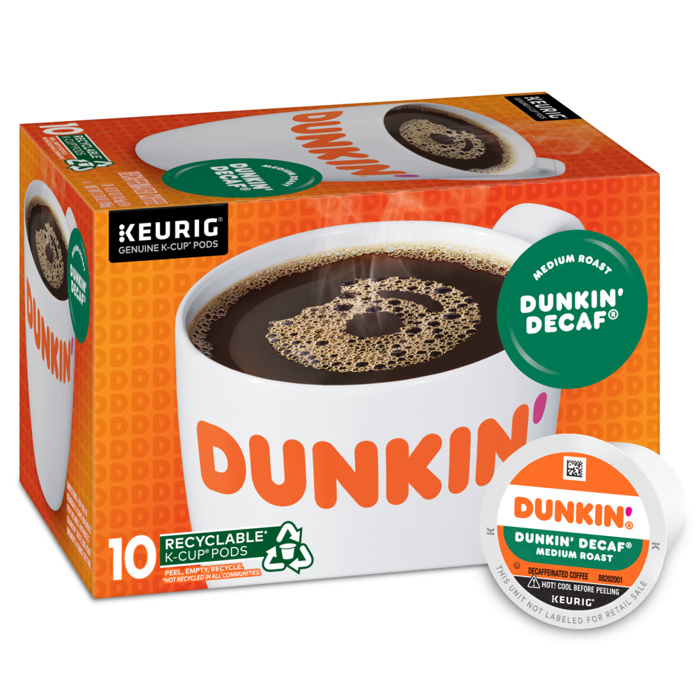 Dunkin' Decaf® K‑Cup® Pods