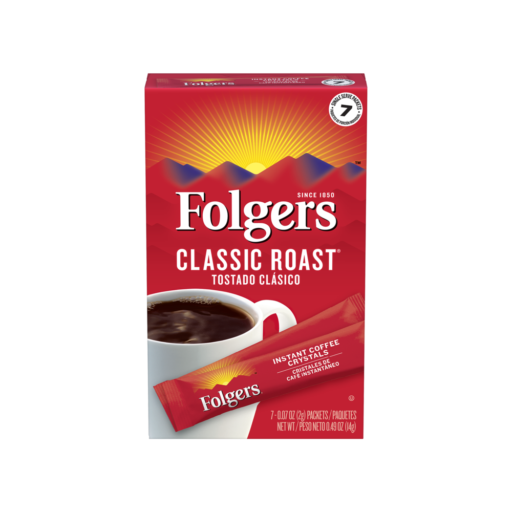 Classic Roast Instant Coffee Crystals Packets