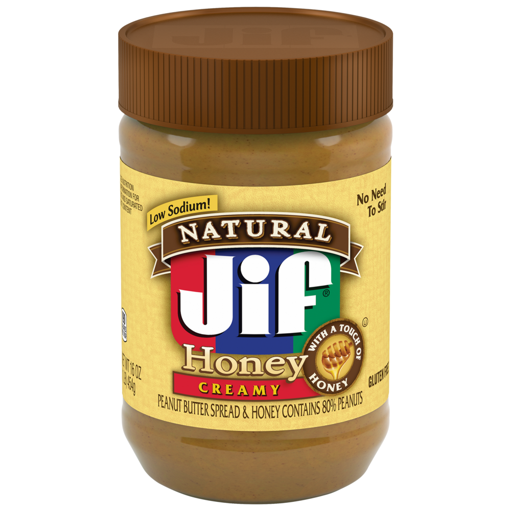 Natural Creamy Peanut Butter Spread and Honey Contains 80% Peanuts