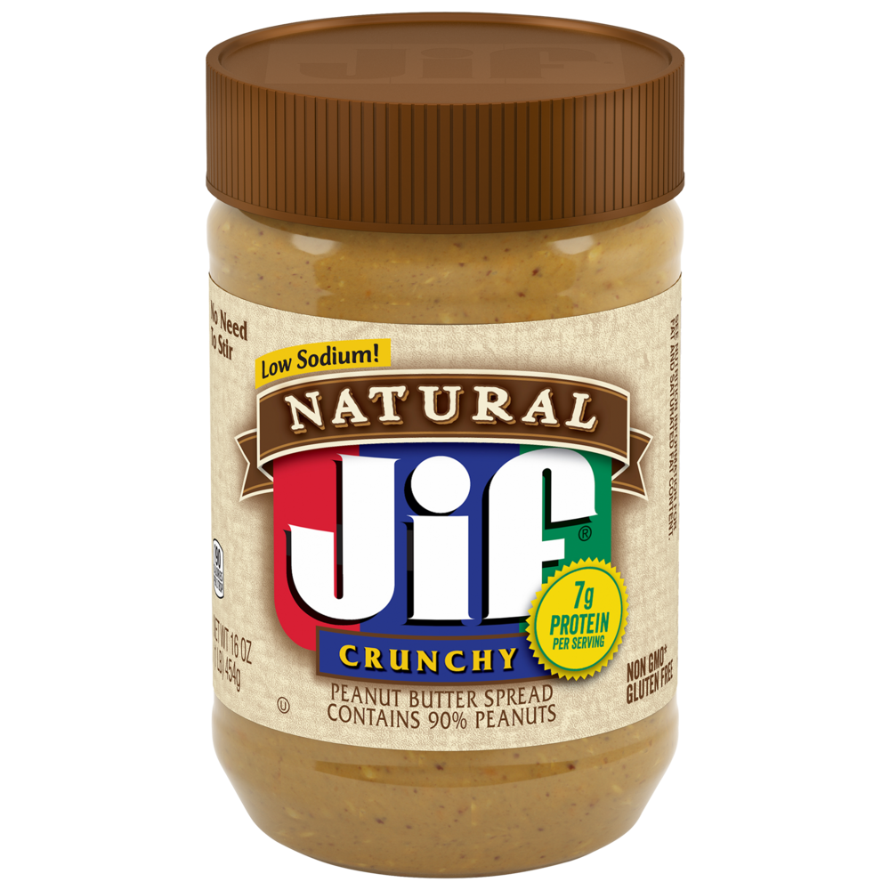 Natural Crunchy Peanut Butter Spread Contains 90% Peanuts