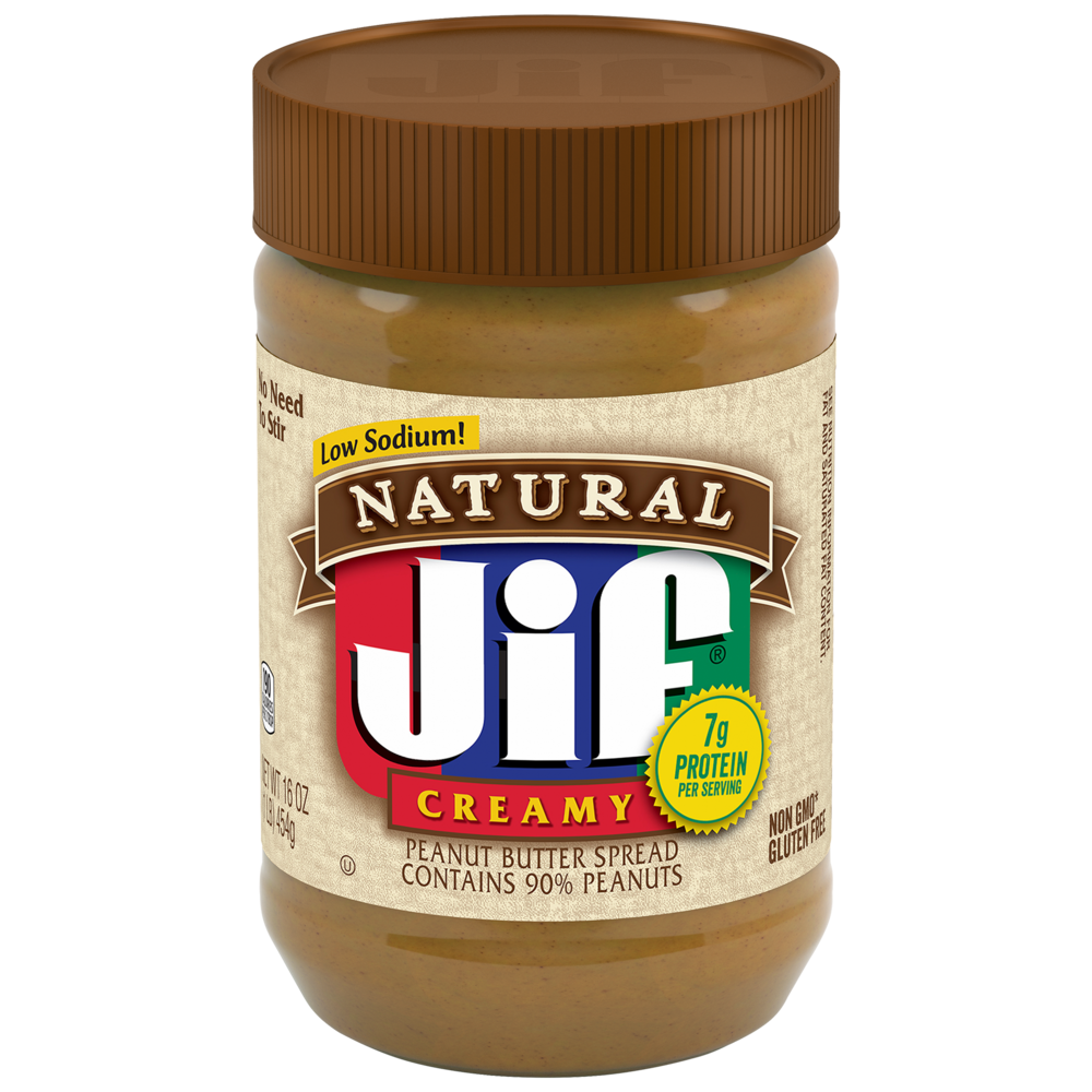 Natural Creamy Peanut Butter Spread Contains 90% Peanuts