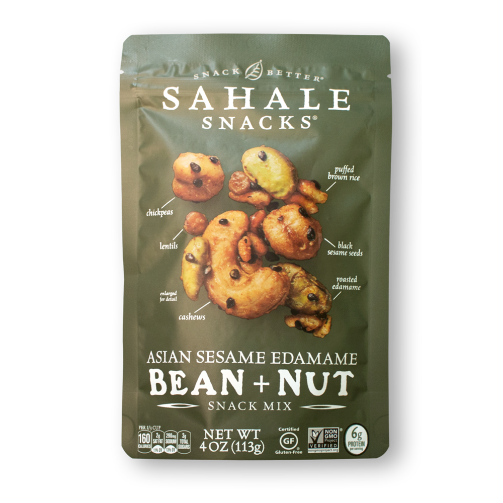 Asian Sesame Edamame Bean + Nut Snack Mix