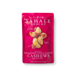 Naturally Pomegranate Vanilla Flavored Cashews  Package