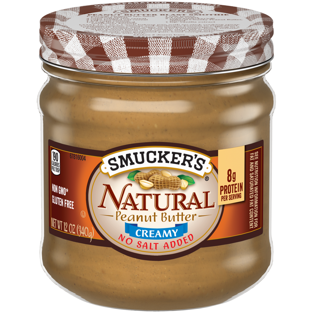 Natural Creamy Peanut Butter with No Salt Added