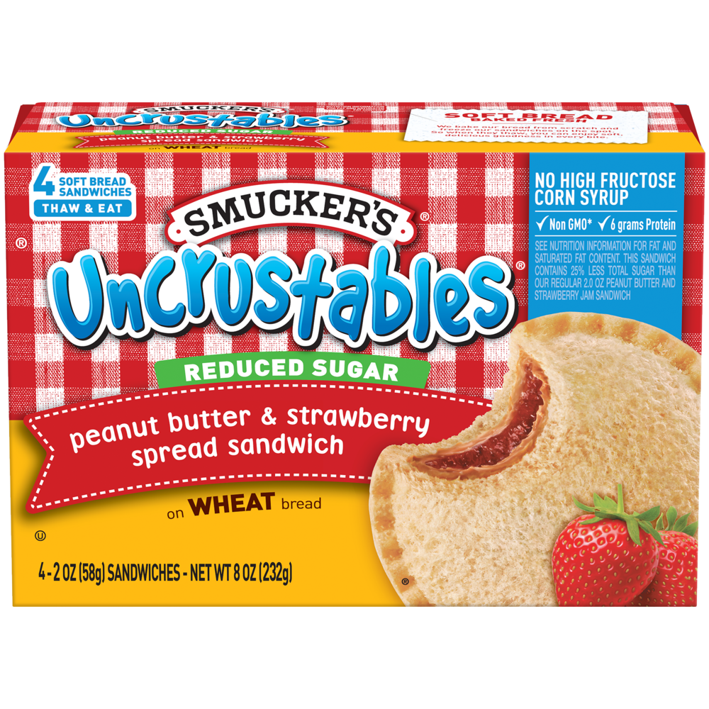 Peanut Butter and Strawberry Jam on Wheat