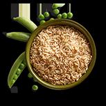 Brown Rice & Peas