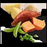 Peas, Sweet Potatoes & Potatoes