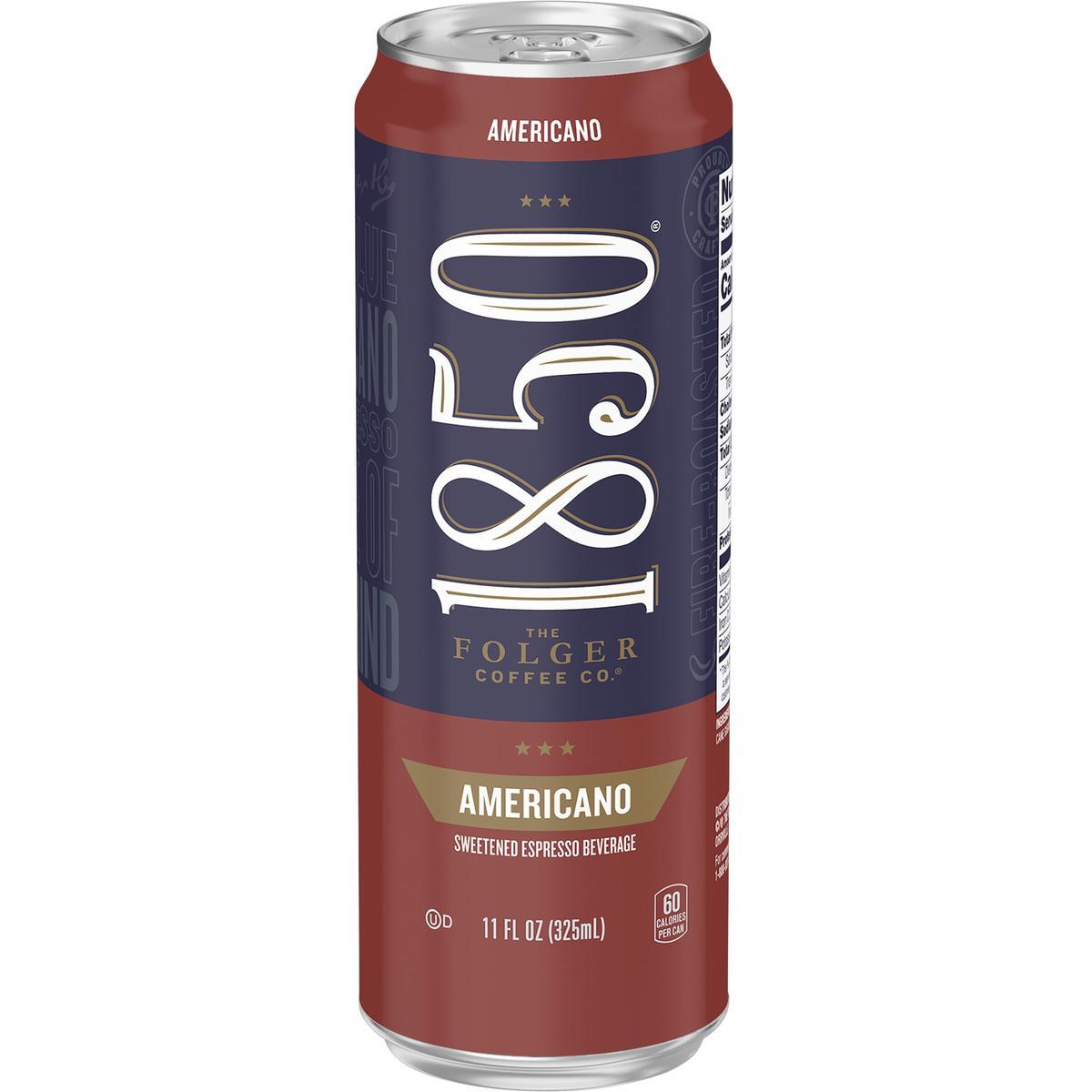 Folgers 1850 Americano Espresso. 11 fl oz can