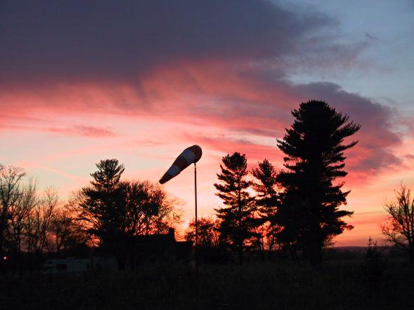 Windsock at sunrise.