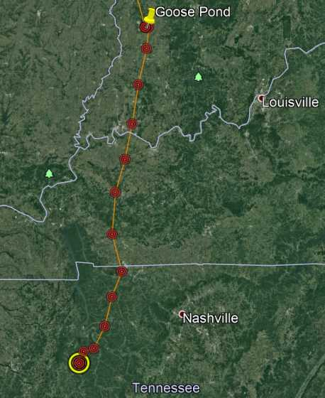 Whooping Crane Tracking Map