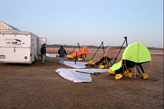Ultralight airplanes get new covers.